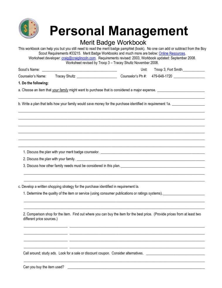 Emergency Prep Merit Badge Worksheet or Boy Scouts Merit Badge Worksheets the Best Worksheets Image