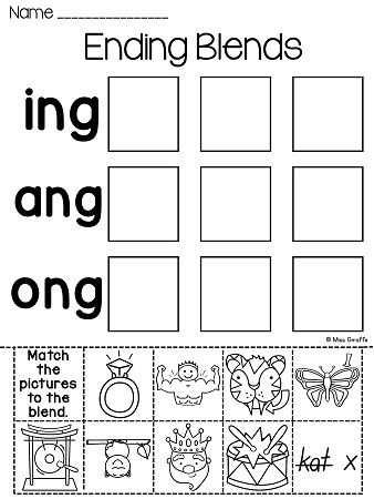 Ending Blends Worksheets with 31 Best Fundations Images On Pinterest
