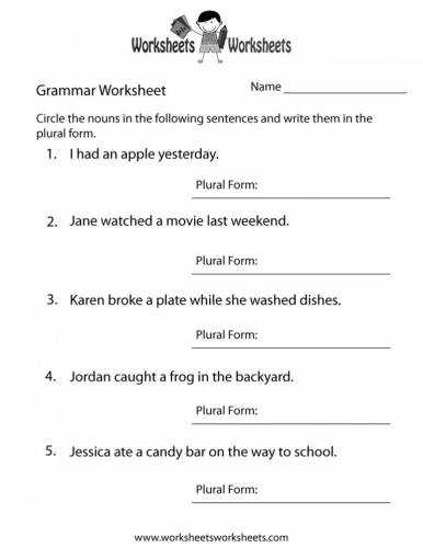 English Grammar Worksheets for Grade 4 Pdf or 4th Grade English Worksheets Best Free Printable Worksheets for