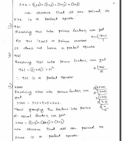 Estimating Square Roots Worksheet Also Squares and Square Roots Rd Sharma Class 8 solutions Ex 3 1