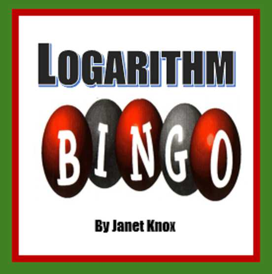 Expanding and Condensing Logarithms Worksheet with Logarithm Bingo