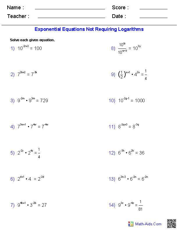 Exponential Equations Worksheet Along with Worksheets 50 Best solving Radical Equations Worksheet High