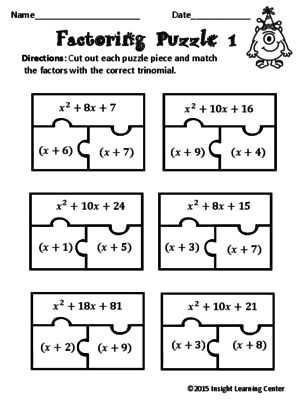 Factoring Polynomials Worksheet with Answers Algebra 2 with 60 Best Factoring and Quadratics Images On Pinterest