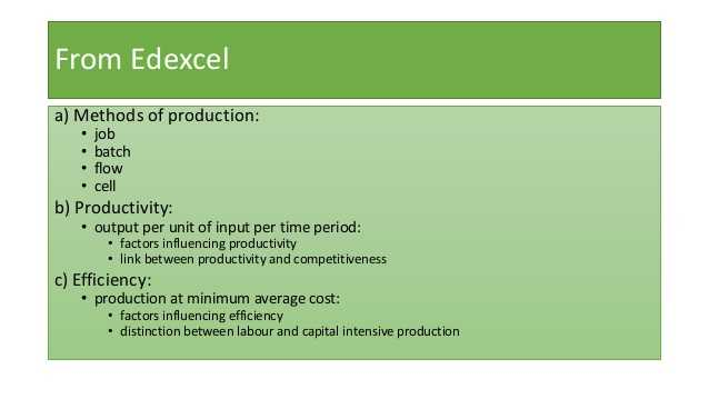 Factors Of Production Worksheet Answers and 2 4 1 Production Productivity and Efficiency
