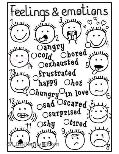 Feelings and Emotions Worksheets Printable as Well as 9 Best Materiale Didattico Images On Pinterest