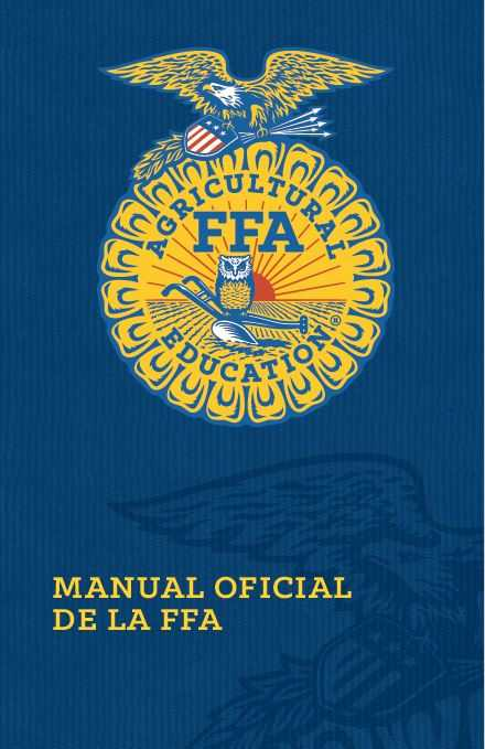 Ffa Officer Duties Worksheet or Ficial Ffa Manual