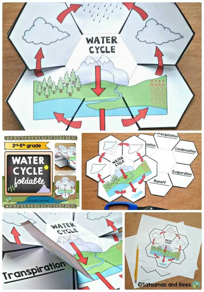 Fill In the Blank Water Cycle Diagram Worksheet Along with the Water Cycle Interactive Science Notebook Foldables