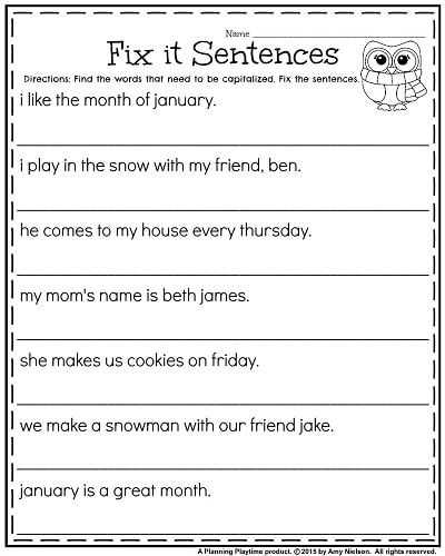 Fix the Sentence Worksheets with 8 Best Writing Conventions Images On Pinterest