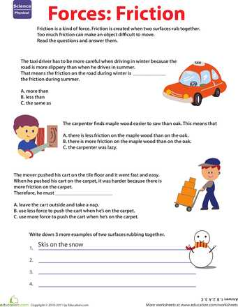 Forces and Friction Practice Worksheet Answer Key together with Learn About force Friction