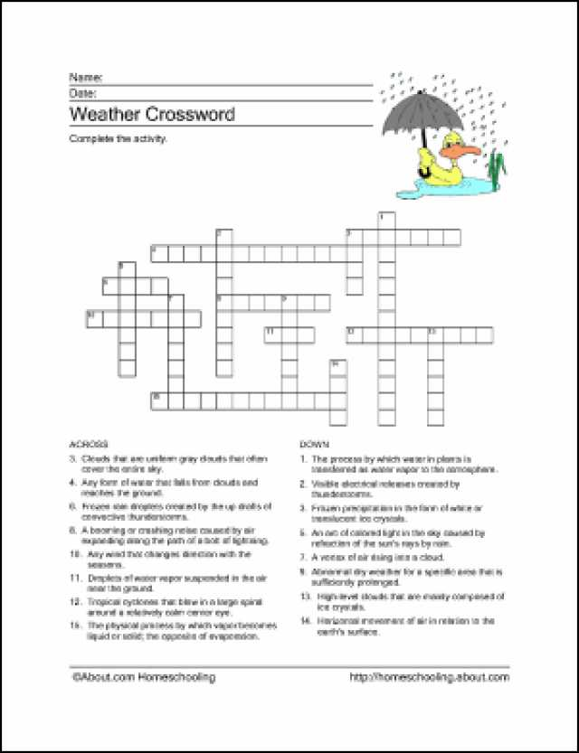 Forecasting Weather Map Worksheet 1 Answers or 10 Worksheets to Teach Your Child Basic Weather Terms