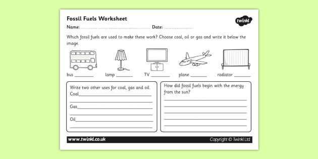 Fossil formation Worksheet with Fossil Fuel Worksheet Fossil Fuels Renewable Energy Energy