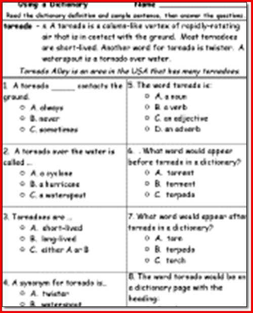 Free 4th Grade Reading Comprehension Worksheets Also 3rd Grade Reading Prehension Printable Worksheets for All