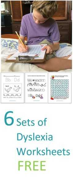 Free Dyslexia Worksheets as Well as Free Worksheets Specially Designed to Help Your Student with