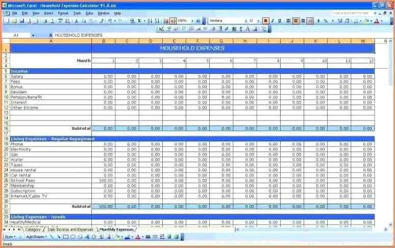 Free Monthly Budget Worksheet or Simple Personal Bud Spreadsheet Awesome Excel Spreadsheet Bud