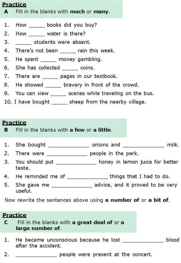 Free Noun Worksheets and Grade 6 Grammar Lesson 16 Quantifiers 1 Language