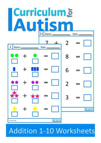 Free Printable Autism Worksheets Along with Special Education Math Worksheets Beautiful Practice Your Math