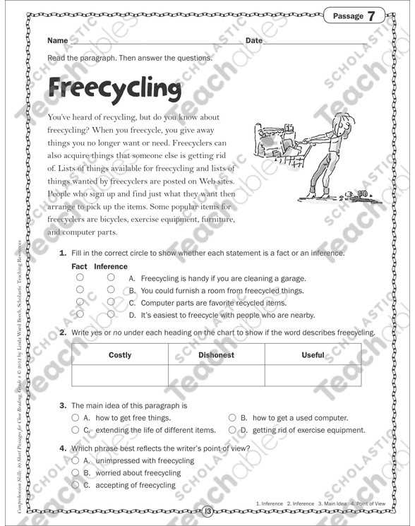 Free Printable Main Idea Worksheets with Main Idea Worksheets Grade 3 Image Collections Worksheet Math for Kids
