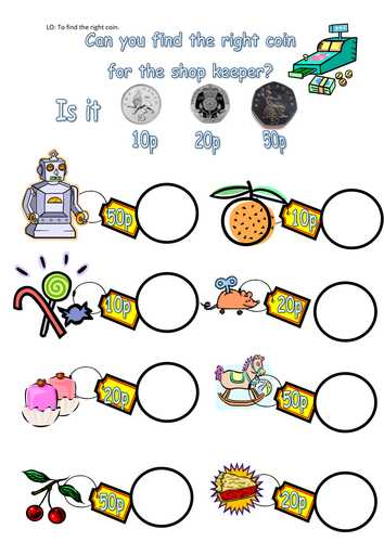 Free Printable Money Worksheets for Kindergarten with Money Worksheets by Steffster Teaching Resources Tes