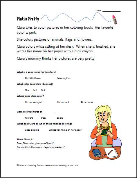Free Printable Reading Comprehension Worksheets for Kindergarten Along with Reading Prehension Skills Worksheets Worksheets for All