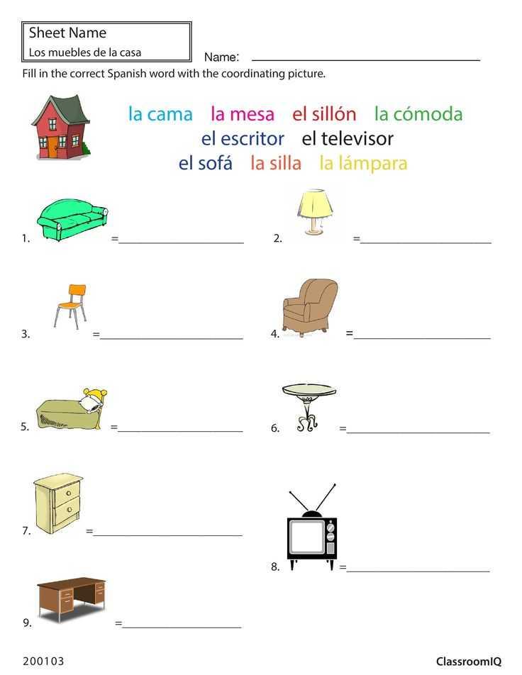 Free Spanish Worksheets or 27 Best Spanish Worksheets Level 1 Images On Pinterest