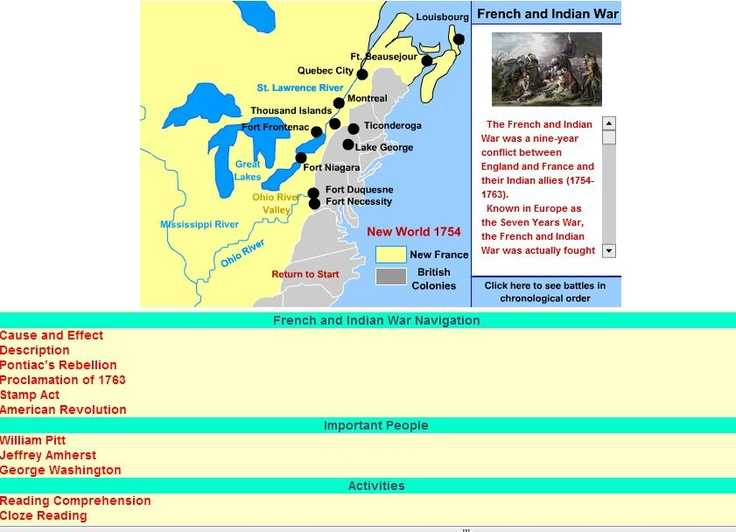 French and Indian War Worksheet as Well as 13 Best French Indian War Images On Pinterest