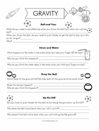 Friction and Gravity Lesson Quiz Worksheet Also Gravity Worksheets Gilreath Pinterest