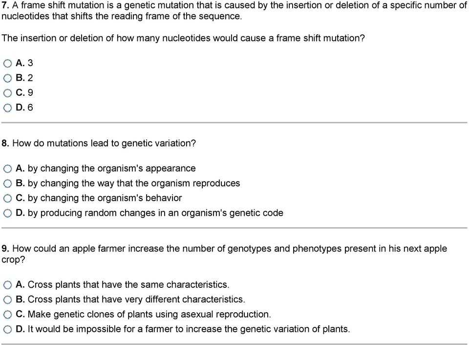 Gene and Chromosome Mutation Worksheet Also Mutations and Genetic Variability 1 What is Occurring In the