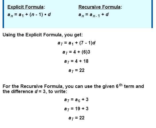 General Sequences Worksheet Answers and Sequence formulas Explicit Versus Recursive