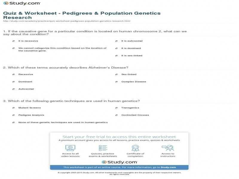 Genetics Pedigree Worksheet Key as Well as Genetics Pedigree Worksheet