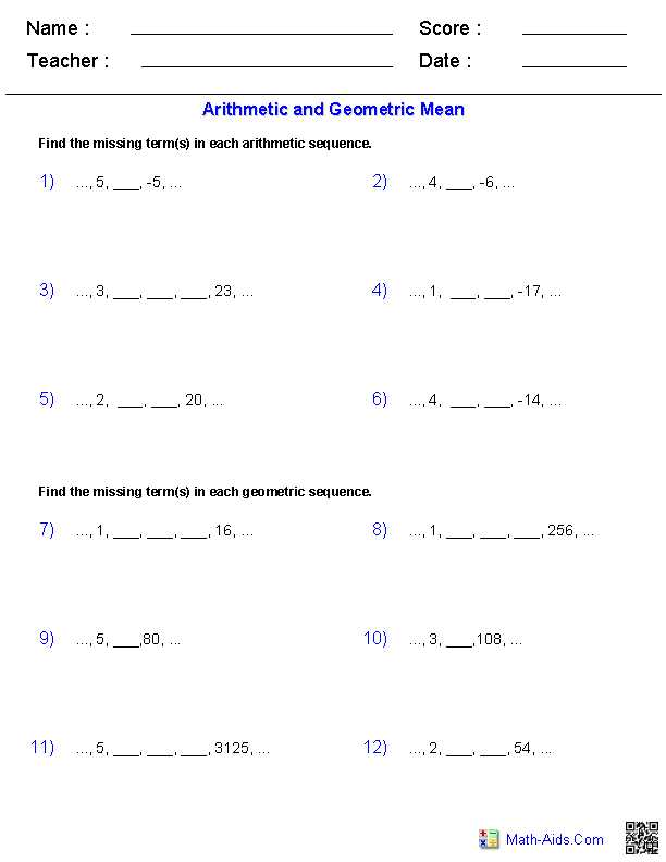 Geometric Sequences Worksheet Answers Also New Box and Whisker Plot Worksheet Best Geometric Equations