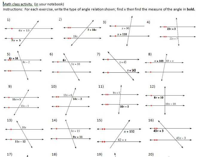 Geometry Parallel Lines and Transversals Worksheet Answers as Well as Geometry Parallel Lines and Transversals Worksheet Answers Fresh