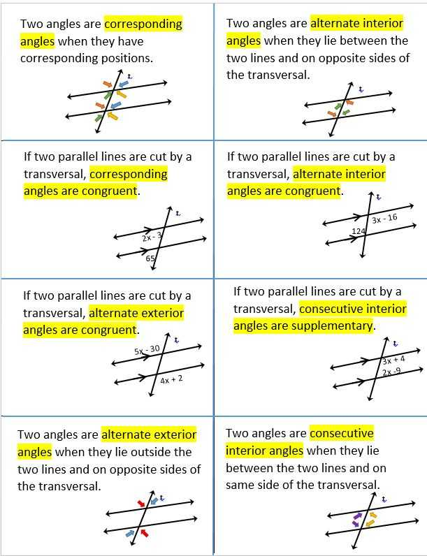 Geometry Parallel Lines and Transversals Worksheet Answers or 50 Best Angles Triangle Relationships Images On Pinterest