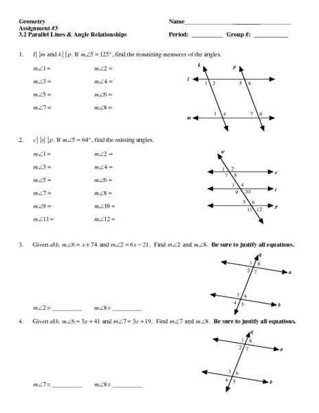 Geometry Parallel Lines and Transversals Worksheet Answers or Inspirational Parallel Lines and Transversals Worksheet Beautiful