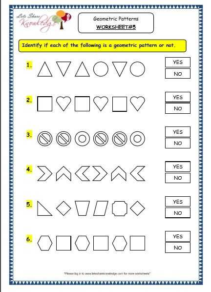 Geometry Review Worksheets Also Grade 3 Maths Worksheets 14 9 Geometry Geometric Patterns In