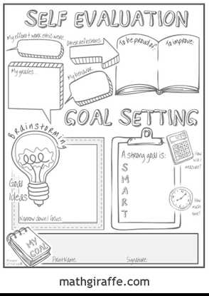 Goal Setting Worksheet for High School Students Along with Goal Setting for Middle School