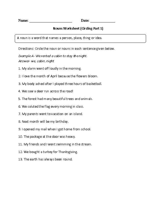 Grade 6 Worksheets Also Worksheets 40 Fresh Nouns Worksheet High Definition Wallpaper