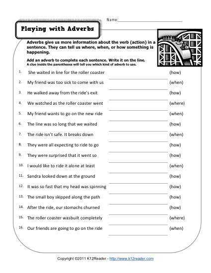 Grammar Review Worksheets with Unique Grammar Worksheets Awesome Playing with Adverbs Concept High