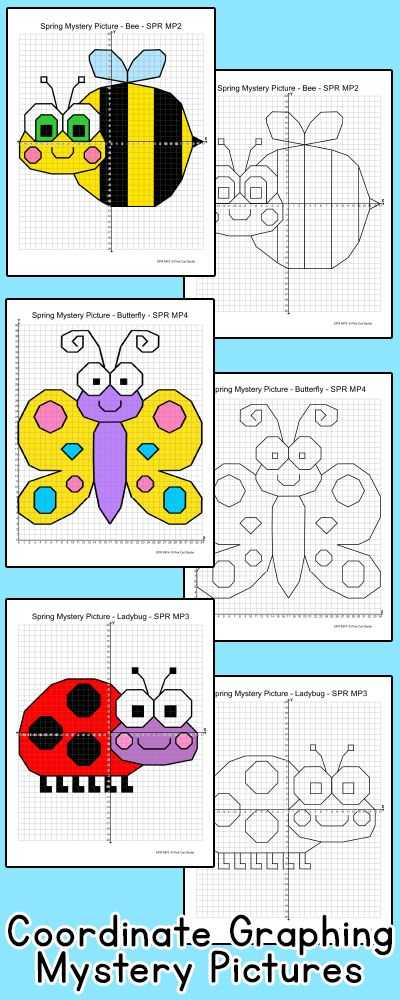 Graphing Points Worksheet or Coordinate Graphing ordered Pairs Spring Activities