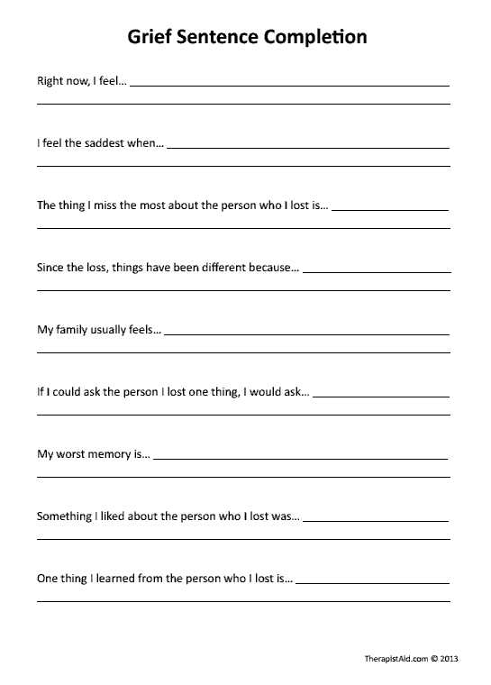 Grief and Loss Worksheets or Great Website with Worksheets for therapists