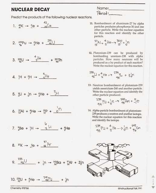 Half Life Practice Worksheet or Nuclear Decay Worksheet with Answers Page 34 Kidz Activities