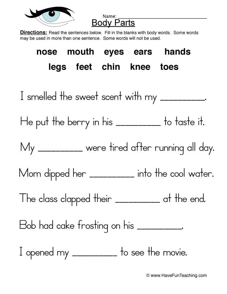 Health and Wellness Worksheets for Students as Well as Health and Nutrition Worksheets