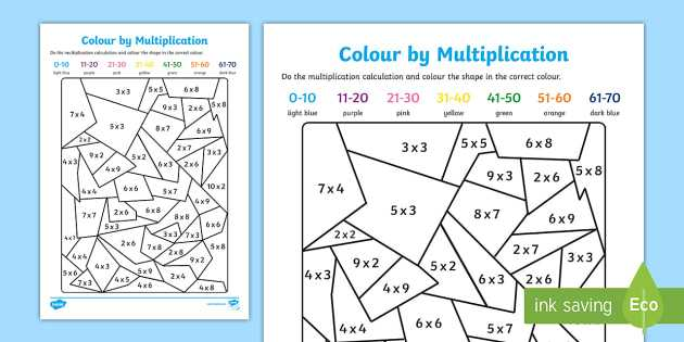 Health Triangle Worksheet Along with Colour by Multiplication Colour Multiplication Colouring