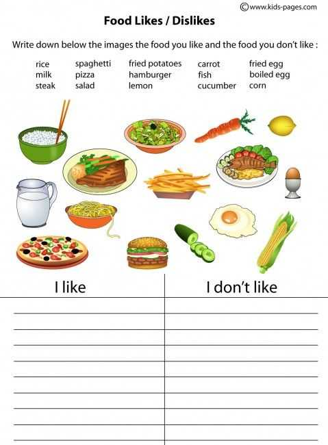 Healthy Food Worksheets together with Food Ve Able Fruit Like Don T Like Easy Worksheets
