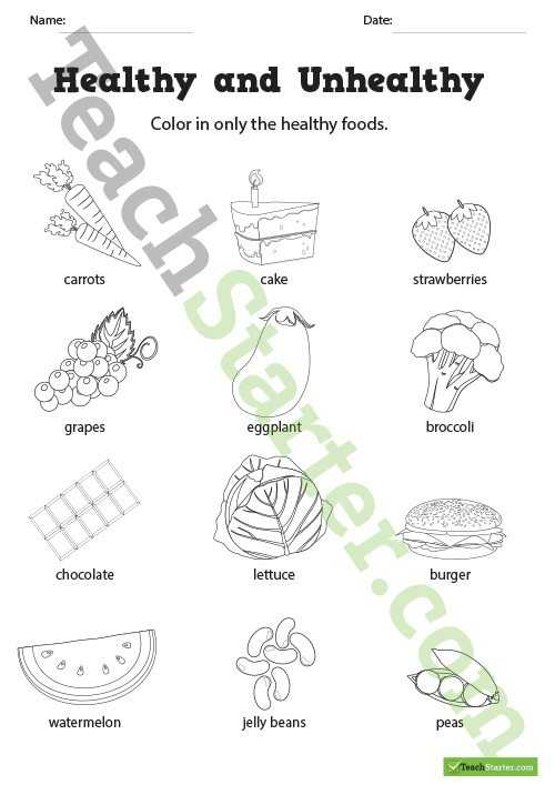 Healthy Living Worksheets Pdf together with Healthy Living Resource Collection – Teach Starter