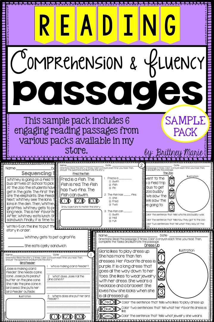 High School Reading Comprehension Worksheets Pdf Along with 8 Best Fluency Images On Pinterest