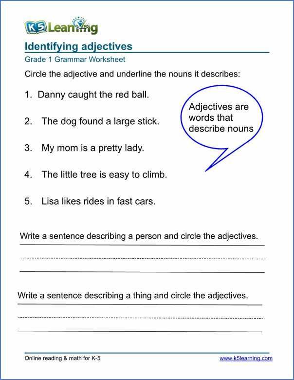 Identifying Adjectives Worksheet and 11 Best Summer Pack Images On Pinterest