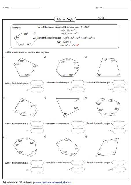 Interior Angles Worksheet together with 36 Best Geometry Worksheets Images On Pinterest