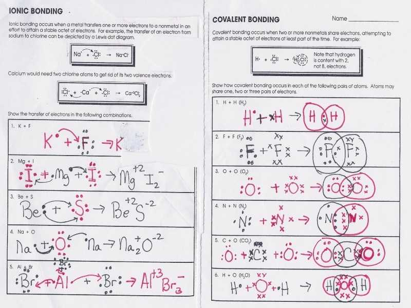 Ionic Bonding Worksheet and Inspirational Ionic Bonding Worksheet Answers New 1 Ib topic 4