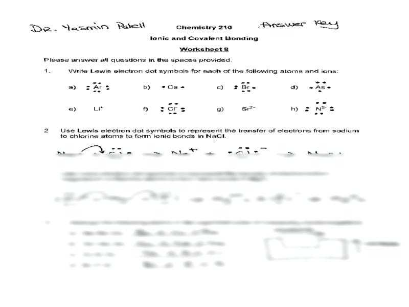 Ionic Bonding Worksheet with Worksheets 42 Best Ionic Bonding Worksheet High Definition