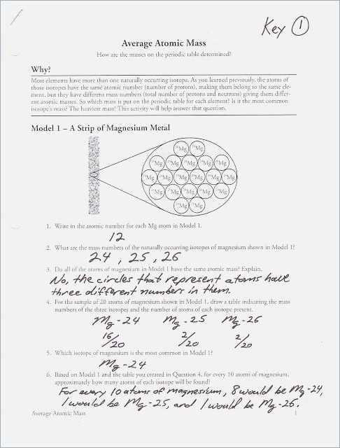 Isotopes and atomic Mass Worksheet Answer Key Along with Calculating Average atomic Mass Worksheet Answers – Webmart